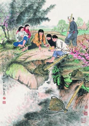 """358魏紫熙""""春回大地""""、""""海韵""""精品欣赏"""