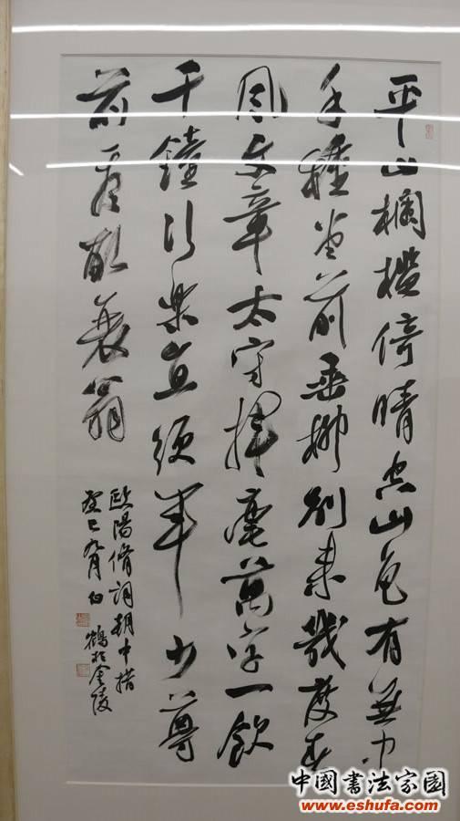 江苏省书法院书法家白鹤书法篆刻作品展在南京开幕