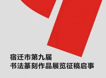 宿迁市第九届书法篆刻作品展览征稿启事(2017年5月30日截稿)